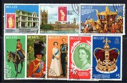 CI1180 - BELIZE 1979 , Serie Yvert N. 421/427  Usata (2380A) 25mo Elisabetta II - Belize (1973-...)