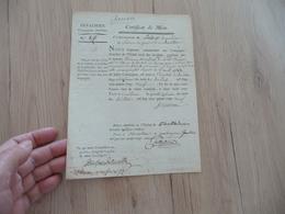 Certificat De Mort Compagnie Détachée Hôtel Royal Des Invalides Bouillon 04/ 07/1789 - Documents