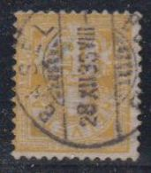 Switzerland 1882 Ziffernmuster 15c Faserpapier Used Basel 28 XII 83 (42728J) - 1882-1906 Wapenschilden, Staande Helvetia & UPU
