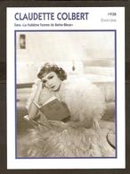 PORTRAIT DE STAR 1938 ETATS UNIS USA - ACTRICE CLAUDETTE COLBERT LE 8 ème FEMME DE BARBE BLEUE - ACTRESS CINEMA - Fotos
