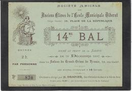 Carton Ancien Franc Maçonnerie Maçonnique Masonic Franc Maçon 1897 Grand Orient De France - Philosophy