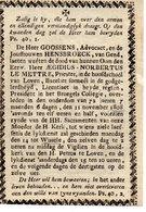 Bidprentje Leuven - Wilsele 1808 ,E.H. AEgidius Le Mettre - Images Religieuses