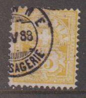Switzerland 1882 Ziffernmuster 15c Faserpapier Used V 88 (42728K) - 1882-1906 Wapenschilden, Staande Helvetia & UPU