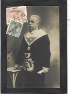 CPA Maçonnique Circulé Masonic Franc Maçonnerie Franc Maçon Carte Photo RPPC Portugal Maghalaes Lima Brésil - Philosophy