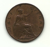 1897 - Gran Bretagna 1/2 Penny - Altri