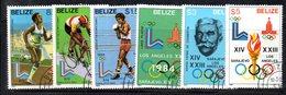 CI1177 - BELIZE 1981 , Serie Yvert N. 527/532 Usata (2380A)  Olimpiadi - Belize (1973-...)