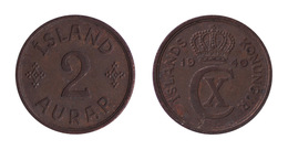 Iceland / 1940 / 2 Aurar / KM 6.2 / XF - Islande