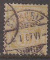 Switzerland 1882 Ziffernmuster 15c Faserpapier Used St. Moriz 6 I 87 (42728L) - 1882-1906 Wapenschilden, Staande Helvetia & UPU