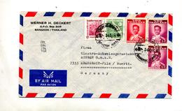 Lettre Cachet Bangkok Sur Roi - Thaïlande