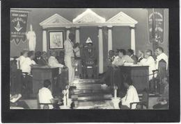 CPA Maçonnique Circulé Masonic Franc Maçonnerie Franc Maçon Intérieur De Loge Temple Carte Photo RPPC - Philosophy