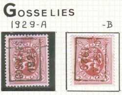 OCVB N°  5016 GOSSELIES 1929 A B - Préoblitérés