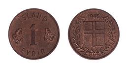 Iceland / 1946 / 1 Eyrir / KM 8 / XF - Islande