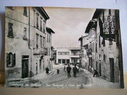 1967 - Arezzo - Cavriglia - Castelnuovo Dei Sabbioni - Via Matteotti E Casa Del Popolo - Animata - Arezzo