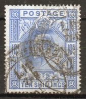 GB Edward VII High Value 10/- Blue Stamp From 1902. - Used Stamps
