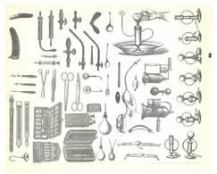 Feuille D'imprimeur ( A. Waton, Saint Etienne ) Illustrée De Dessins (modèles En-tête De Factures ), Matériel Médical .. - Facturas & Documentos Mercantiles