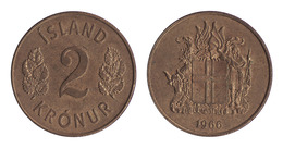 Iceland / 1966 / 2 Kronur / KM 13a.1 / XF - Islande
