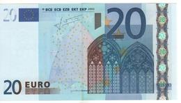 """20 EURO  """"M""""   PORTUGAL   Firma Trichet   U 012 A3   /  FDS - UNC - EURO"""
