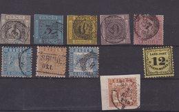 BADE : 10 EX . * ET OBL . 1851/64 . B . - Baden