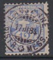 Switzerland 1882 Ziffernmuster 12c White Paper Ca Lausanne 17 III 84 (42728N) - 1882-1906 Wapenschilden, Staande Helvetia & UPU
