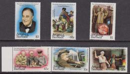 Antigua & Barbuda - 1984 ROOSEVELT & Washington Set SG636-41 MNH - Antigua And Barbuda (1981-...)