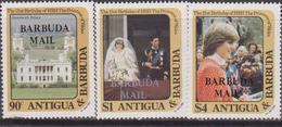 Antigua & Barbuda - Diana Set MNH Overprint - Antigua And Barbuda (1981-...)