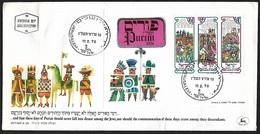 1976 - ISRAEL - FDC + Michel Block 14 [Purim] + JERUSALEM - FDC