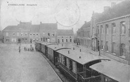 Dorpsplaats Knesselare Stoomtrein 1918 - Aalter
