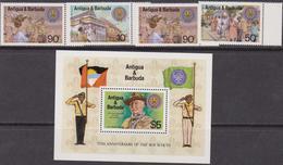 Antigua & Barbuda - Scout Set+Sheet - Antigua And Barbuda (1981-...)