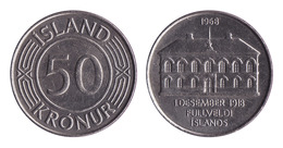 Iceland / 1968 / 50 Kronur / KM 16 / XF - Islande