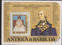 Antigua & Barbuda - Diana Sheet  MNH - Antigua And Barbuda (1981-...)