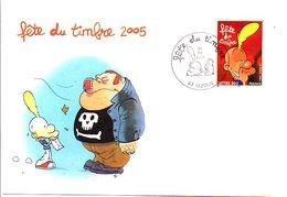 OBLITERATION FETE DU TIMBRE BD TITEUF à LEZOUX PUY DE DOME 2005 - Postmark Collection (Covers)