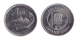 Iceland / 1999 / 1 Krona / KM 27a / XF - Islande