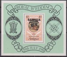 Antigua & Barbuda - Diana Sheet  MNH Overprint - Antigua And Barbuda (1981-...)