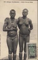 Sur CPA Afrique Occidentale Jeunes Femmes Diolas Seins Nus YT AOF N°27 Haute Volta CAD Bobo Dioulasso 20 Ma 27 - Upper Volta (1920-1932)