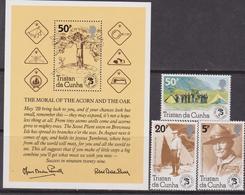 Tristan Da Cunha  - Scout Set + Sheet  MNH - Tristan Da Cunha
