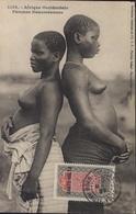 Sur CPA Afrique Occidentale Femmes Dahoméennes Seins Nus YT AOF N°11 Haute Volta CAD Bobo Dioulasso 20 Mar 27 - Upper Volta (1920-1932)