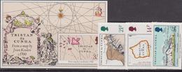 Tristan Da Cunha  - Map Set + Sheet  MNH - Tristan Da Cunha