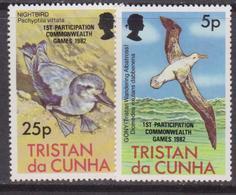 Tristan Da Cunha  - Fauna Birds Overprint Set MNH - Tristan Da Cunha