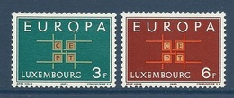 Luxembourg 1963 Yvert 634/635 **  Europa 1963 - Europa-CEPT