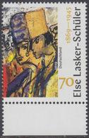 !a! GERMANY 2019 Mi. 3443 MNH SINGLE W/ Bottom Margin (a) - Else Lasker-Schueler, Poestress And Painter - [7] Repubblica Federale