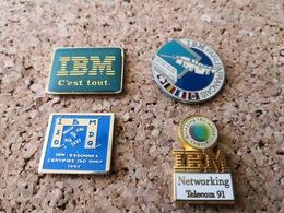 4  Pins  Informatique IBM   Telecom Essonne Parle Francais - Informatik