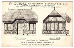 SANNOIS (95) - CARTE PUB - Th. DUBOIS, Constructeur à Sannois - Spécialité De Constructions Rustiques En Tous Genres - Sannois