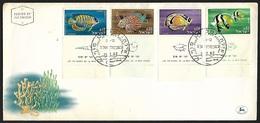 1976 - ISRAEL - FDC + Michel 266/269 + ELAT - PORT DE LA MER ROUGE - FDC