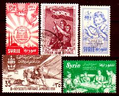 Siria-00170 - Posta Aerea 1957-58 (++/o) MNH/Used - Senza Difetti Occulti. - Siria