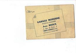 Petit Calendrier 1953 - GARAGE MODERNE Agnece PANHARD Jean ROUX - CORBEIL-ESSONNES - Signalisation Routière - Calendarios