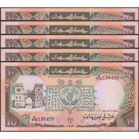 TWN - SUDAN 46 - 10 Pounds 1991 DEALERS LOT X 5 - Series E/376 UNC - Sudan