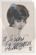 PHOTOGRAPHIE DEDICACEE PAR JACQUELINE FRANCOIS CHANTEUSE APRES GUERRE - PHOTO SAM LEVIN DISQUES PHILIPS - Autografi