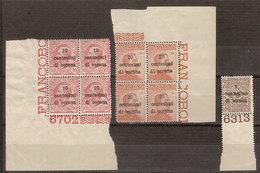 """(Fb).Trento E Trieste.1919.""""F.lli Soprastampati"""".Lotto 3 Val.1c+10c+20c Nuovi (205-18) - 8. Occupazione 1a Guerra"""