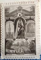 XIX ° , IMAGE PIEUSE Cadre DENTELLE ,SOUVENIR DE SAINTE ANNE D'AURAY . FONTAINE SACREE C. BERTIN, OLD HOLY CARD , Lace - Images Religieuses