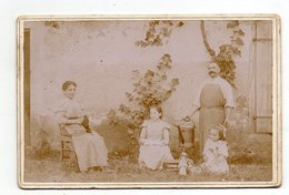 Jardinier Et Sa Famille. Photo Originale. - Old (before 1900)